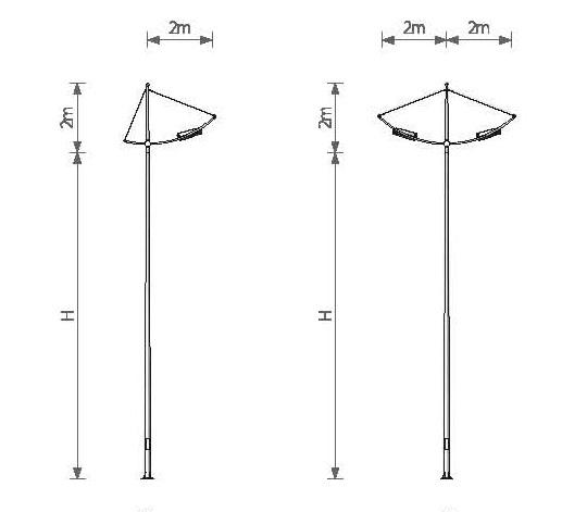 Cột đèn nhìn thanh thoát và mang tính thẩm mỹ cao