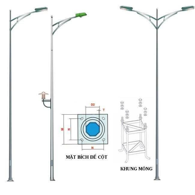 Cột trụ đèn cao áp 03 – thiết kế đạt quy chuẩn hiện đại