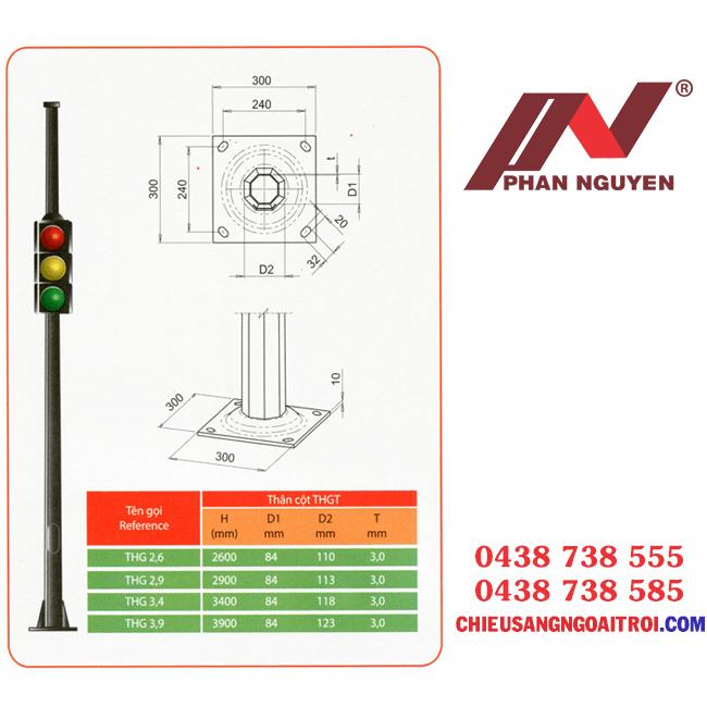 Cột đèn tín hiệu giao thông PN04