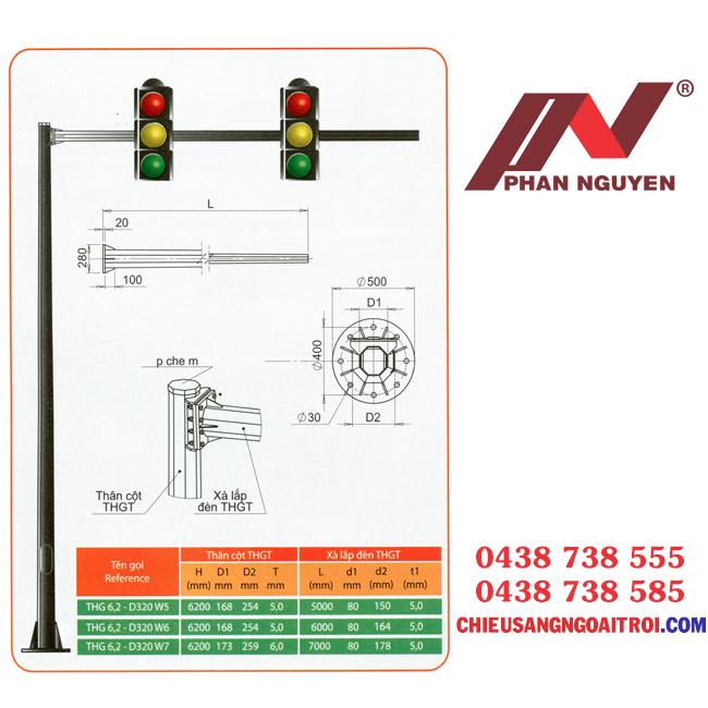 Cột đèn tín hiệu giao thông PN06 - cột đèn giao thông chất lượng