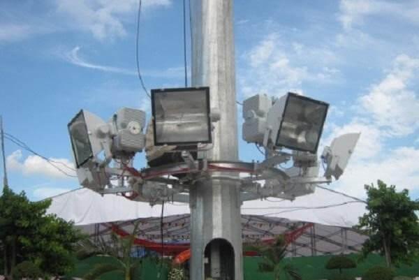 Cấu tạo cột giàn đèn nâng hạ 20m 25m 30m