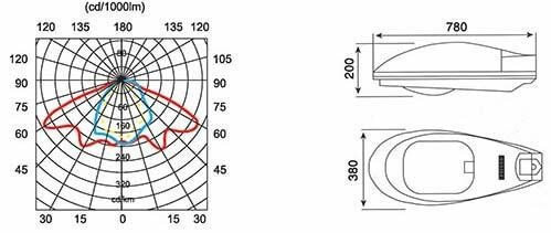 Bảng thiết kế chi tiết của đèn cao áp ca 04-PND
