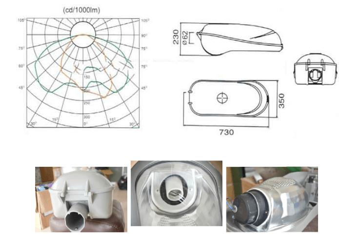 Chi tiết cấu tạo của đèn cao áp PND dòng 01
