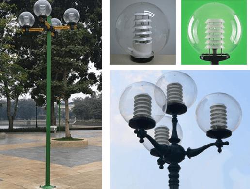 Đèn cầu PMMA D400 được sử dụng phổ biến tại nhiều công viên, khu đô thị lớn
