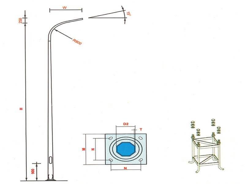 Sự tương thích của cần đèn, bóng đèn và cột đèn là quan trọng nhất