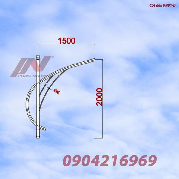 Cần đèn cao áp đơn PN01-D