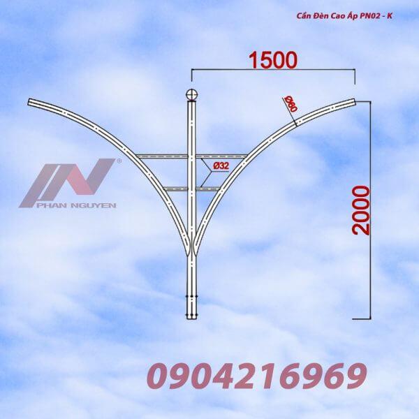 Cần đèn cao áp kép PN02-K