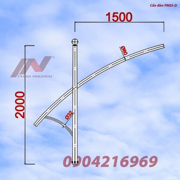Cần đèn cao áp đơn PN05-D