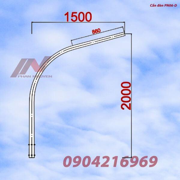 Cần đèn cao áp đơn PN06–D