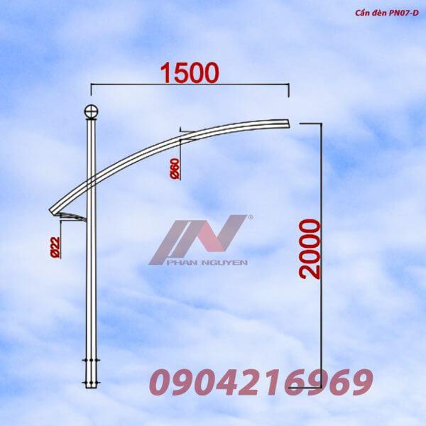 Cần đèn cao áp đơn PN07-D