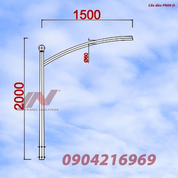 Cần đèn cao áp đơn PN09-D