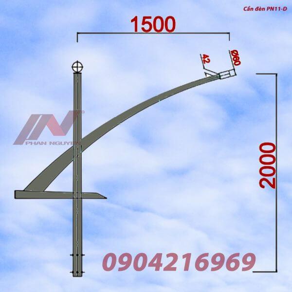Cần đèn cao áp đơn PN11-D