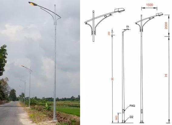 Các sản phẩm cần đèn cao áp Phan Nguyễn sản xuất có độ vươn hợp lý