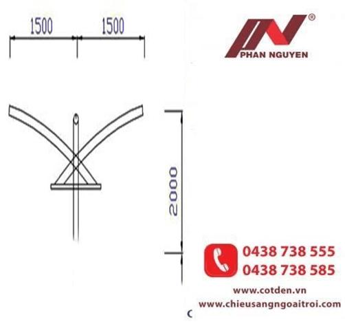 Cần đèn cao áp kép PN11-K