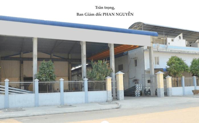 Hệ thống xưởng, nhà máy công ty TNHH Phan Nguyễn
