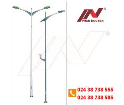 Cột đèn cao áp bát giác rời cần 7m BG7-78