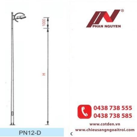 Cần đèn cao áp đơn PN12-D lắp cột đèn rời cần