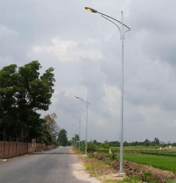 Một trong những mẫu của cột đèn cao áp tròn côn rời cần D78.