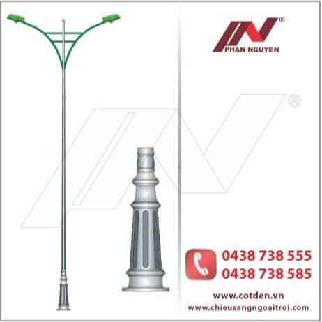 Cột đèn đế gang PN03 phù hợp với mọi không gian đường phố