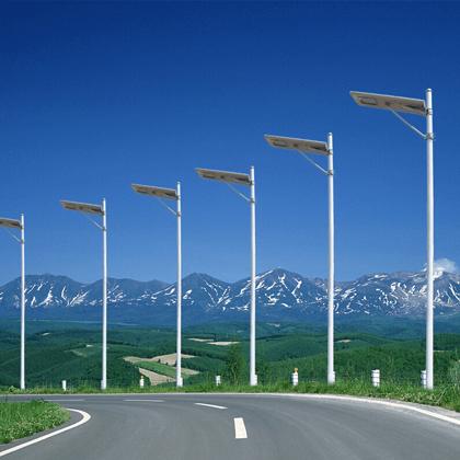 Các cột đèn đường sử dụng năng lượng mặt trời giúp tiết kiệm điện năng