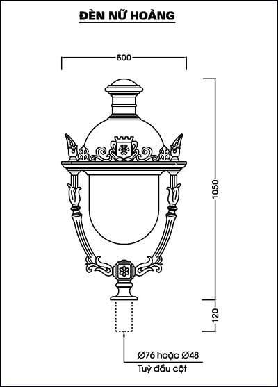 Thiết kế đèn nữ hoàng