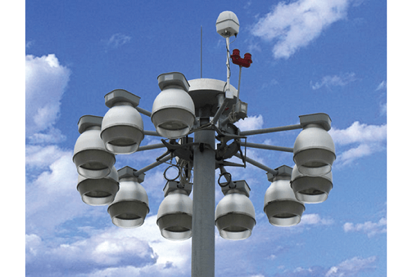 Giàn đèn được sử dụng tại những khu vực lớn như nút giao thông