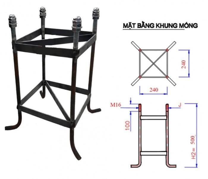 Chất liệu khung móng của cột đèn đa phần được làm từ sắt, thép nguyên khối có chất lượng tốt