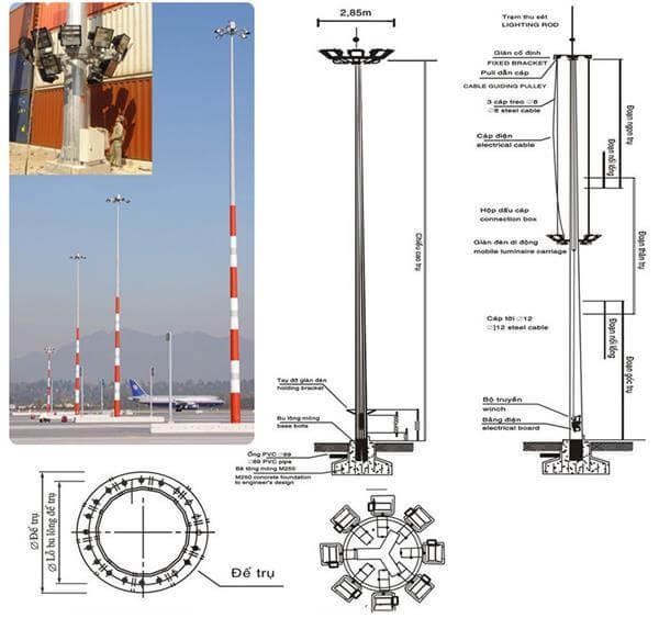 Cột đèn đa giác