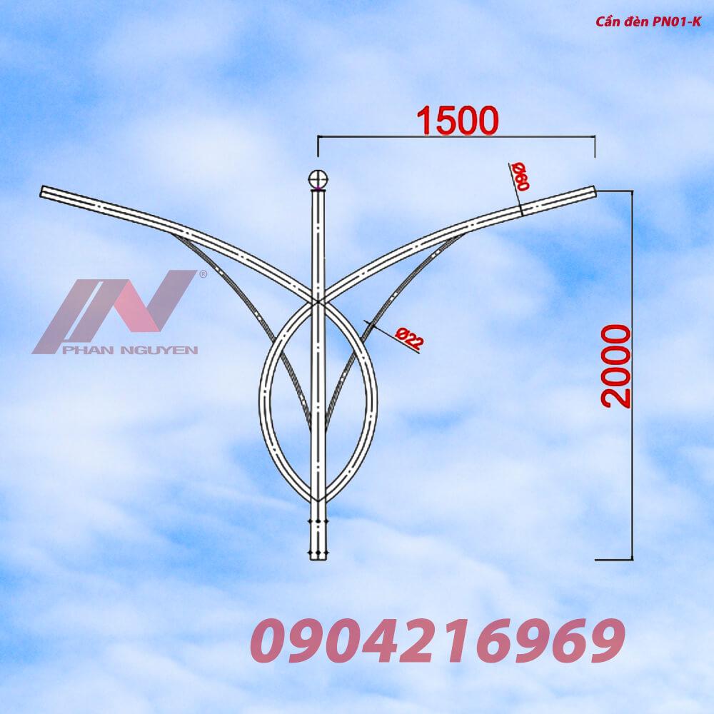 Cần đèn cao áp kép PN01-K