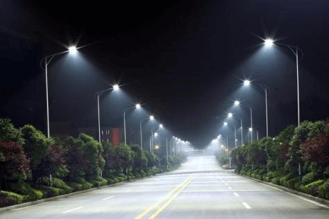 Cận cảnh công trình sử dụng cột đèn cao áp 8m bát giác rời cần BG8-78