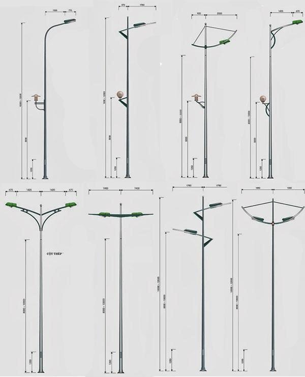 Cột đèn cao áp 8m bát giác rời cần BG8-78 lựa chọn của hàng nghìn công trình tại Việt Nam