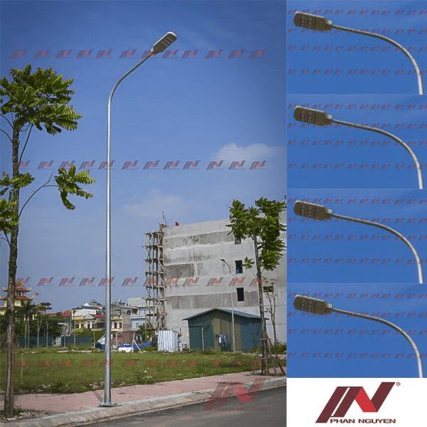 Sản phẩm cột đèn chiếu sáng mạ kẽm nóng với nhiều thiết kế mẫu mã đa dạng