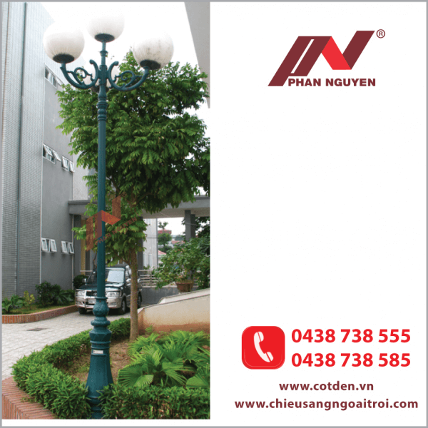 Cột đèn sân vườn Hà Nội giá rẻ