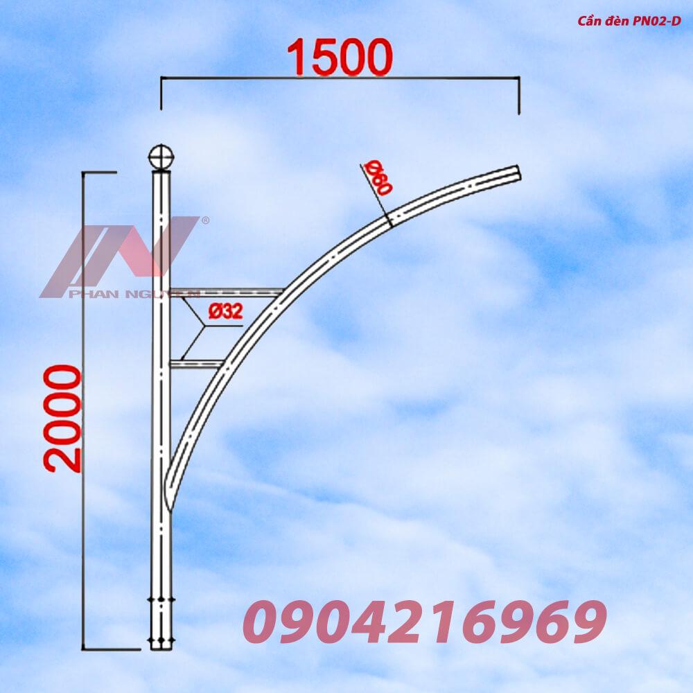 Cần đèn cao áp đơn PN02-D