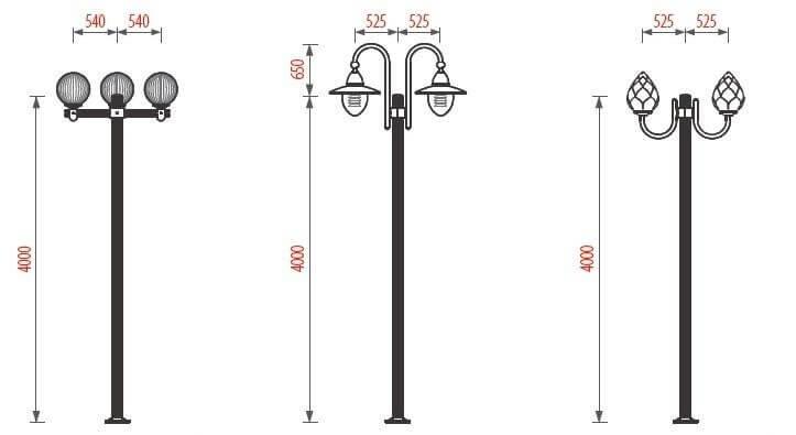 Một số sản phẩm cột đèn sân vườn Arlequin