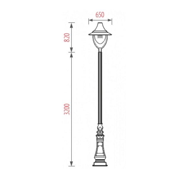 Sản phẩm cột đèn sân vườn Bamboo 3.2m
