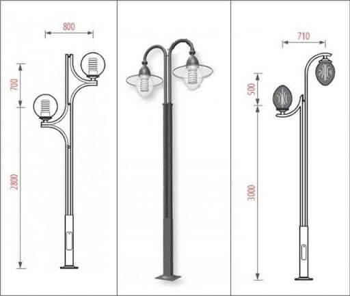 Thông số kỹ thuật của cột đèn sân vườn làm bằng thép
