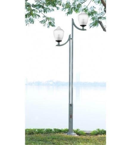 Cột đèn cao 5m với thiết kế 2 bóng đèn