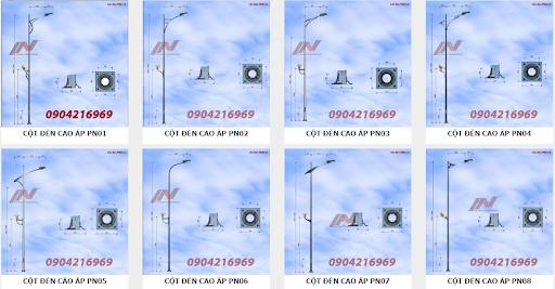 Cột đèn đa dạng về kiểu dáng và thiết kế