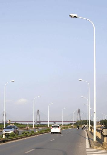 Cột đèn cao áp có nhiều loại với chiều cao đa dạng