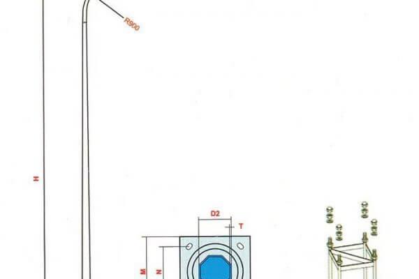 Cột đèn cao áp ngày càng được ứng dụng nhiều