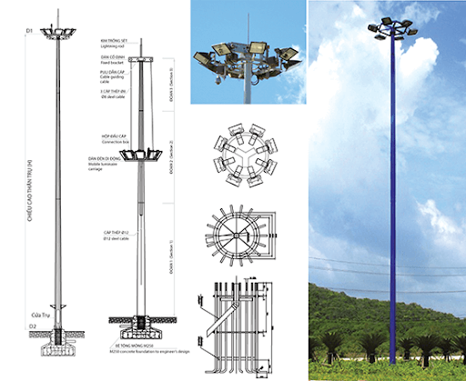 Các cột đèn cao áp với những kiểu dáng, thiết kế đẹp mắt luôn có sẵn tại Phan Nguyễn