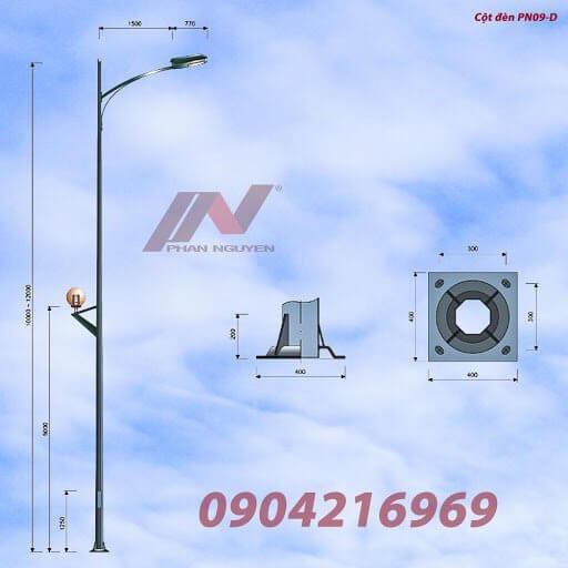 Hình ảnh sản phẩm cột đèn đạt chuẩn của Công ty Phan Nguyễn