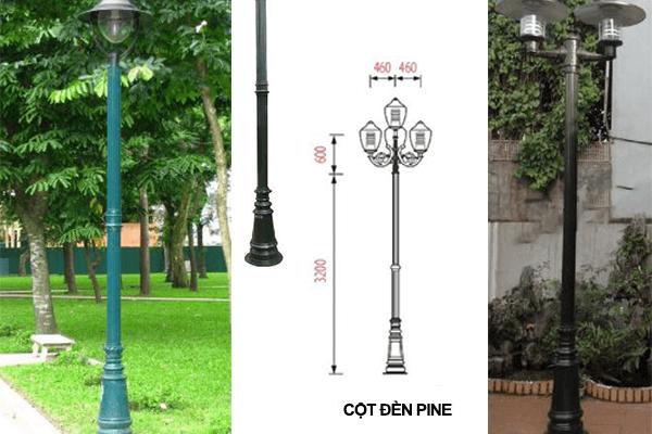 Cột đèn PINE ứng dụng phổ biến trong nhiều khuôn viên sân vườn