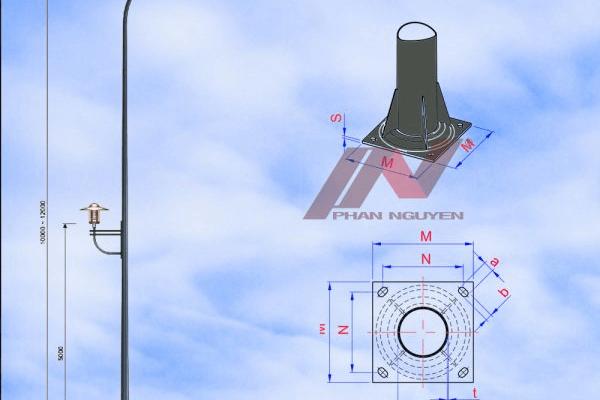 Sản phẩm cột đèn cao áp của Phan Nguyễn luôn đáp ứng đúng tiêu chuẩn