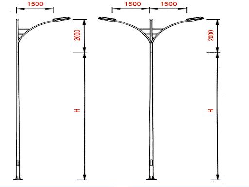 Thông số sản phẩm cột đèn PN10