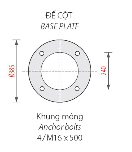 Ban ve phan de cot va khung mong den san vuon Banian DC07
