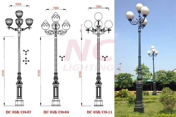 Cột đèn được sản xuất từ nhôm chất lượng cao bền đẹp