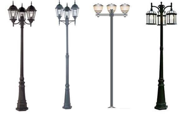 Có nhiều loại cột đèn sân vườn giúp bạn lựa chọn thoải mái phù hợp với nhu cầu và sở thích của mình