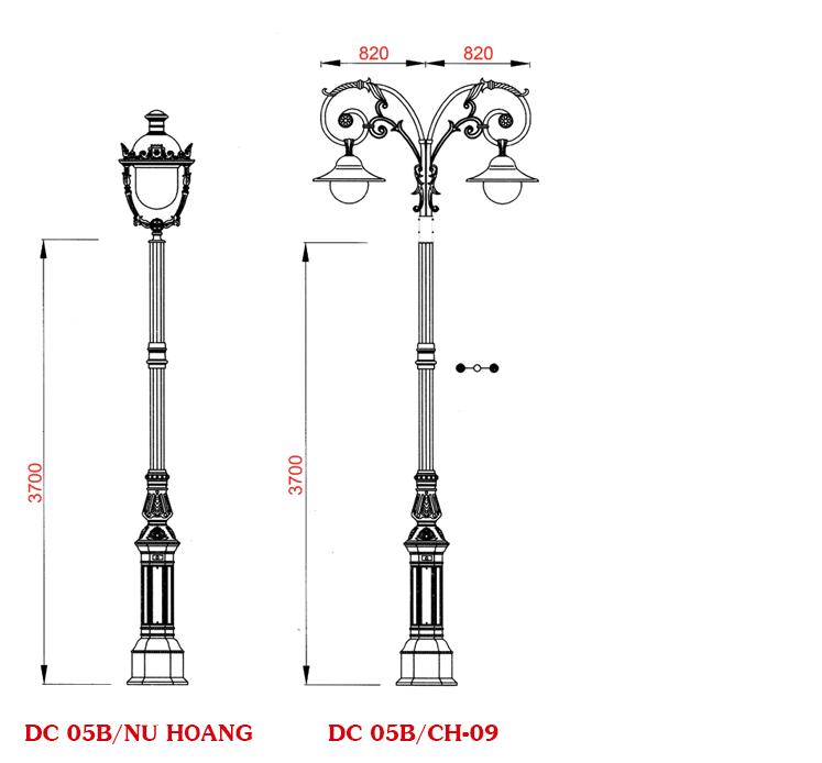 Sản phẩm cột đèn của Phan Nguyễn được thiết kế với nhiều kiểu dáng khác nhau